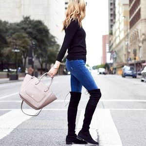 Gray Mixit Over the Knee Boots